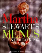 Cover of: Martha Stewart's menus for entertaining