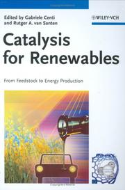 Cover of: Catalysis for Renewables |