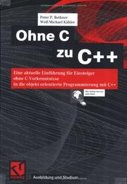 Cover of: Ohne C zu C++ by