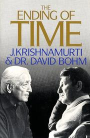 The ending of time by Jiddu Krishnamurti