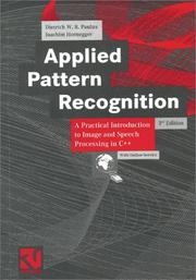 Cover of: Applied Pattern Recognition | Dietrich W. R. Paulus