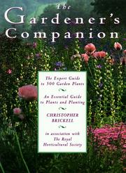 Cover of: The gardener's companion