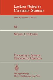Computing in systems described by equations.