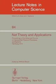 Cover of: Net Theory and Applications | W. Brauer