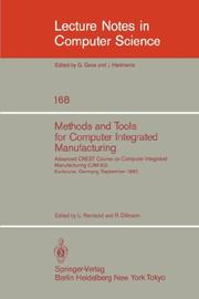 Cover of: Methods and Tools for Computer Integrated Manufacturing |