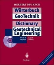 Cover of: Wörterbuch GeoTechnik/Dictionary Geotechnical Engineering: Deutsch/Englisch English/German