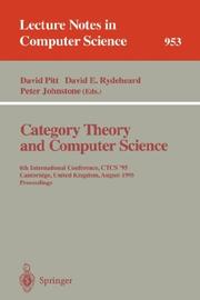 Cover of: Category Theory and Computer Science |