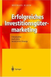 Cover of: Erfolgreiches Investitionsgütermarketing
