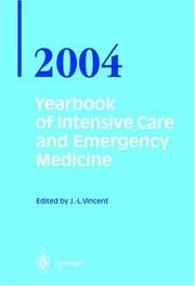 Cover of: Yearbook of Intensive Care and Emergency Medicine / Annual volumes 2004 (Yearbook of Intensive Care and Emergency Medicine)