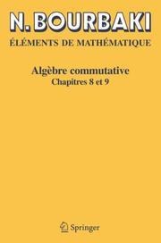 Alg Bre Commutative: Chapitres 8 Et 9