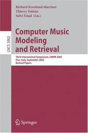 Computer music modeling and retrieval by Computer Music Modeling and Retrieval Symposium (1st 2003 Montpellier, France)