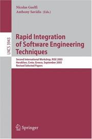 Cover of: Rapid Integration of Software Engineering Techniques |