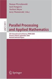 Cover of: Parallel processing and applied mathematics by PPAM 2001 (2001 Nałęczów, Lublin, Poland)
