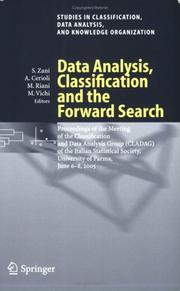 Cover of: Data Analysis, Classification and the Forward Search |