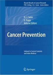 Cover of: Cancer Prevention (Recent Results in Cancer Research) |