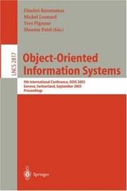 Cover of: Object-Oriented Information Systems |