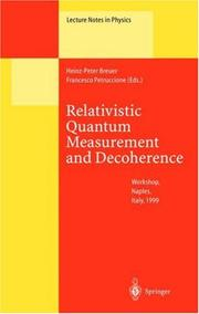 Cover of: Relativistic Quantum Measurement and Decoherence |