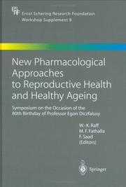 Cover of: New Pharmacological Approaches to Reproductive Health and Healthy Ageing |
