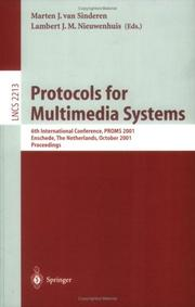 Cover of: Protocols for Multimedia Systems |