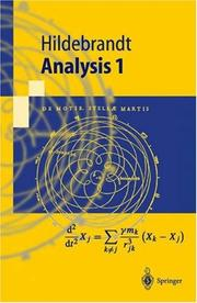 Cover of: Analysis 1