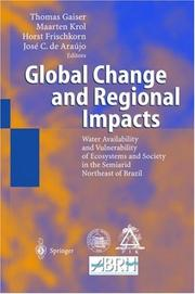 Cover of: Global Change and Regional Impacts |