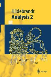 Cover of: Analysis 2