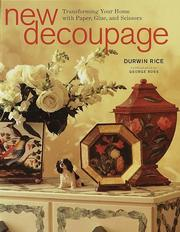 Cover of: New decoupage | Durwin Rice