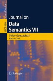 Cover of: Journal on Data Semantics VII | Stefano Spaccapietra