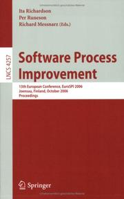 Cover of: Software Process Improvement |