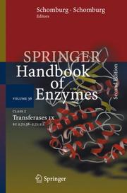 Cover of: Class 2 . Transferases IX |