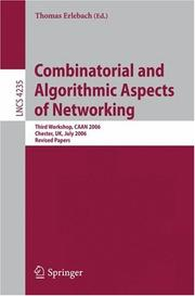 Cover of: Combinatorial and Algorithmic Aspects of Networking | Thomas Erlebach
