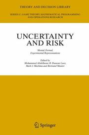 Uncertainty and risk by
