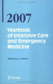 Cover of: Yearbook of Intensive Care and Emergency Medicine / Annual volumes 2007 (Yearbook of Intensive Care and Emergency Medicine)