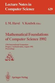 Mathematical Foundations of Computer Science 1992 by