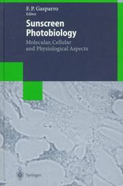 Cover of: Sunscreen Photobiology  | Francis P. Gasparro