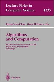 Cover of: Algorithms and Computation |