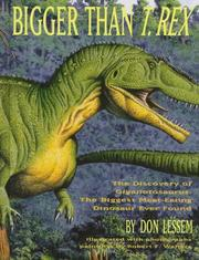Cover of: Bigger than T. rex | Don Lessem