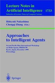 Cover of: Approaches to intelligent agents by