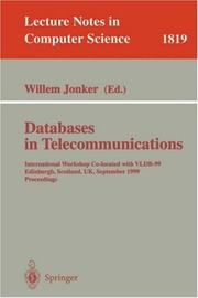 Cover of: Databases in Telecommunications
