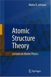 Cover of: Atomic Structure Theory