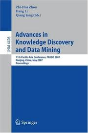 Cover of: Advances in knowledge discovery and data mining |