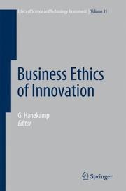 Cover of: Business Ethics of Innovation (Ethics of Science and Technology Assessment) | G. Hanekamp