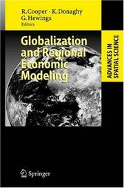 Cover of: Globalization and Regional Economic Modeling (Advances in Spatial Science) (Advances in Spatial Science) |