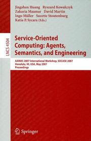 Cover of: Service-Oriented Computing: Agents, Semantics, and Engineering by