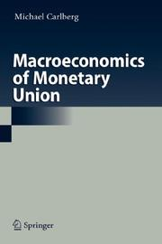 Cover of: Macroeconomics of Monetary Union