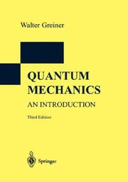 Cover of: Quantum Mechanics. An Introduction