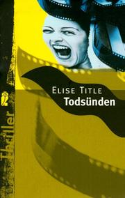Cover of: Todsünde