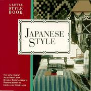 Cover of: Japanese style | Suzanne Slesin