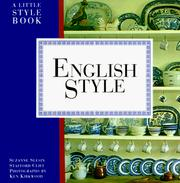 Cover of: English style | Suzanne Slesin
