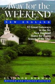 Cover of: Away for the weekend, New England